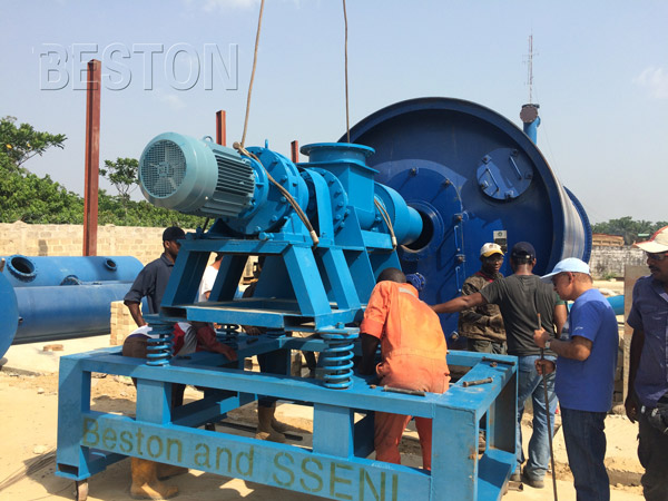 Beston waste sludge oil treatment plant in Nigeria