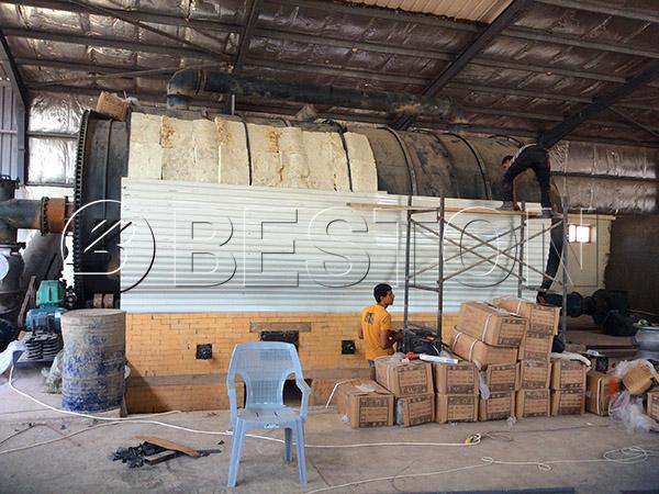 Beston waste tIre pyrolysis plant in Jordan