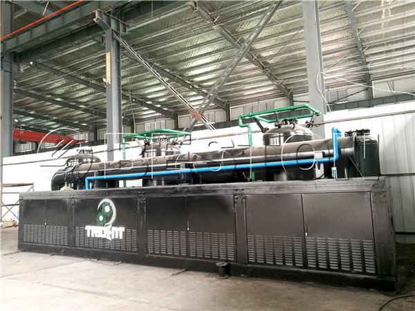 continuous plastic pyrolysis plant to South Africa
