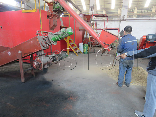 customer visiting for palm shell charcoal making machine