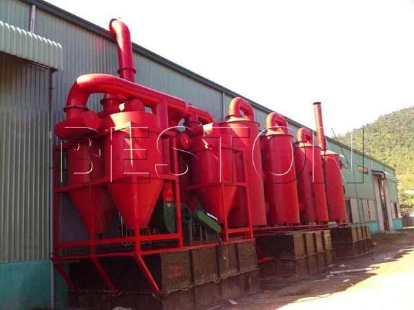 de dusting system of Beston sewage sludge treatment plant