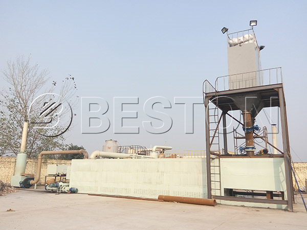 turning plastic to oil plant