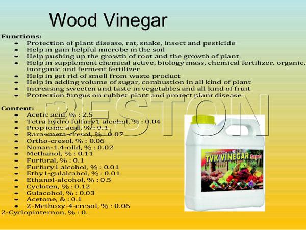 usage of wood vinegar