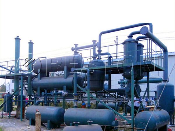 waste plastic to diesel plant