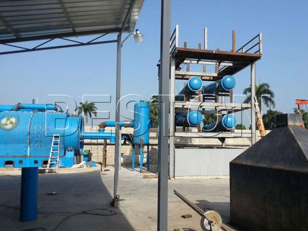 Beston waste plastic pyrolysis machine in Dominica