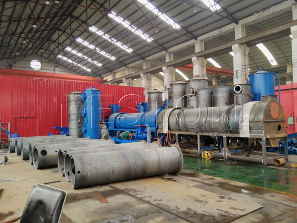 biomass charcoal machine in the factory
