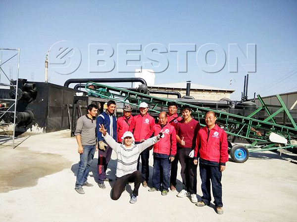 our technicians with our local customer