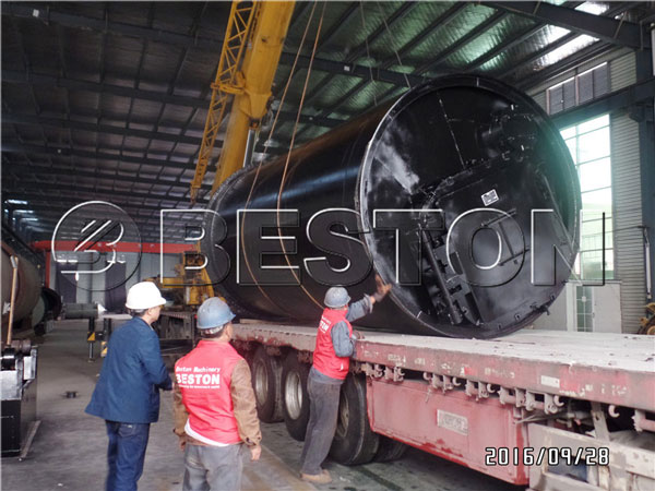 our batch pyrolysis plant to South Korea