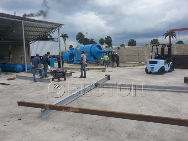 our waste pyrolysis plant in Dominica