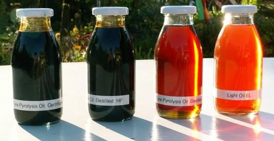 pyrolysis oil from waste pyrolysis