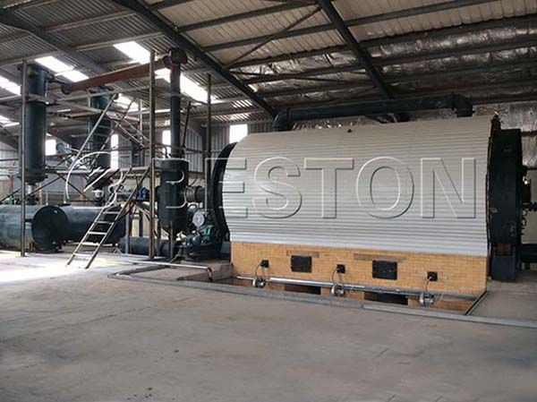 Beston Waste Tyre Recycling Machine Installed in Jordan