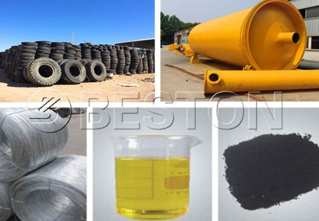 End Products of Waste Tyre Pyrolysis Plant