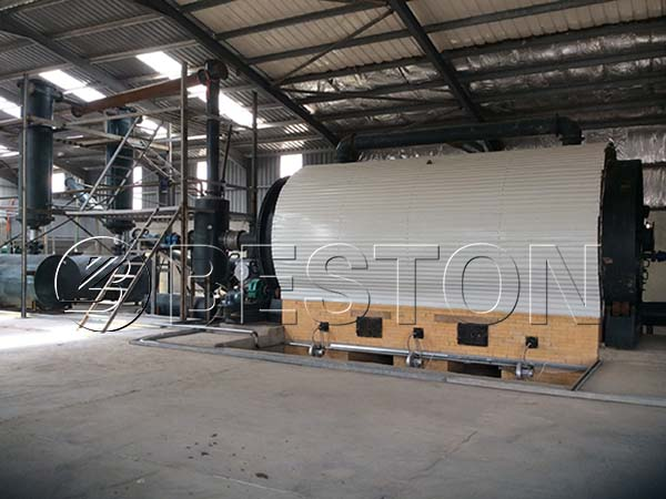 Semi-contentious Waste Tyre Recycling Plant from Beston Machinery