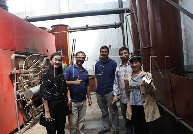 Chile Customers Visited Beston Factory for Biomass Carbonization Machine