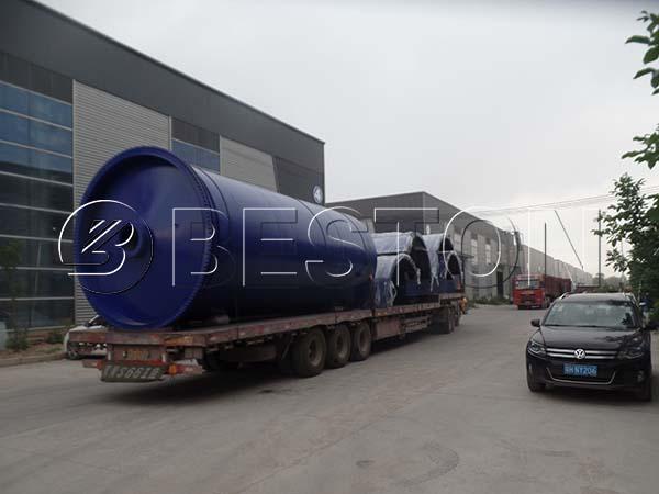 Beston Waste Pyrolysis Machine Shipped to Korea