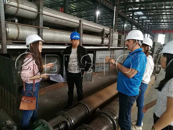 Russian Customer Visited Beston Factory