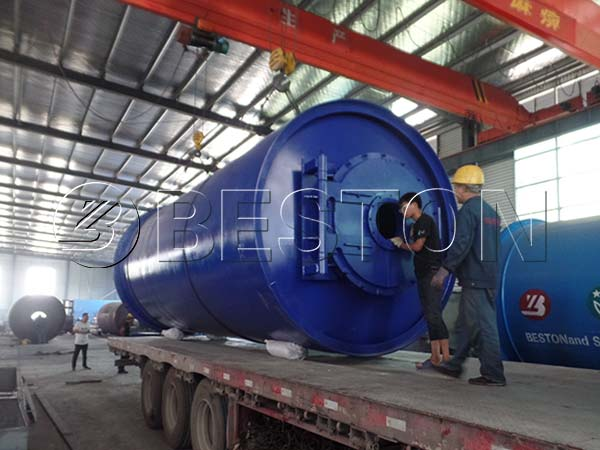 Shipping of Pyrolysis Rector