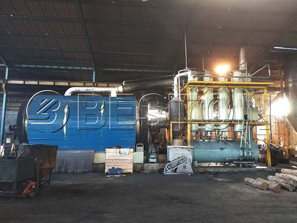 Waste Tire Pyrolysis Plant In Indonesia