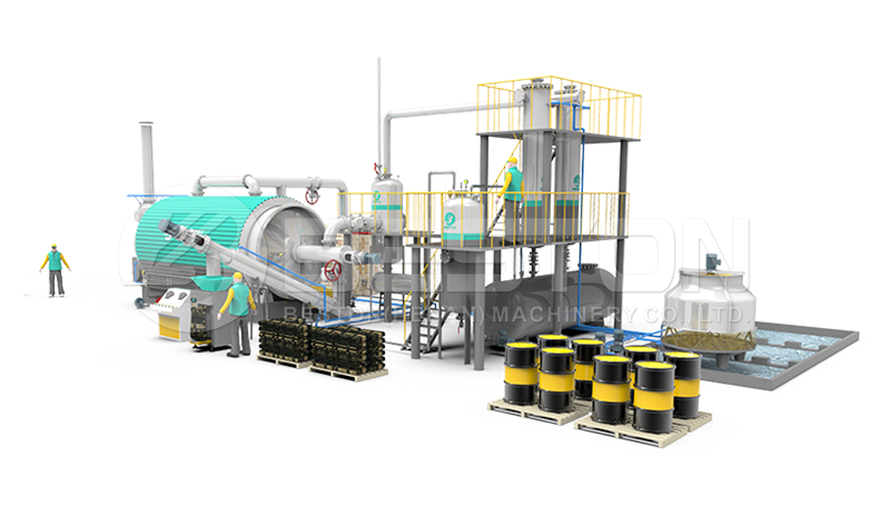 tyre pyrolysis plant manufacturers - Beston Machinery