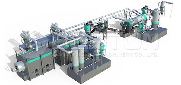 Layout of Charcoal Production Plant