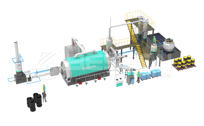 Layout of Plastic to Fuel Plant
