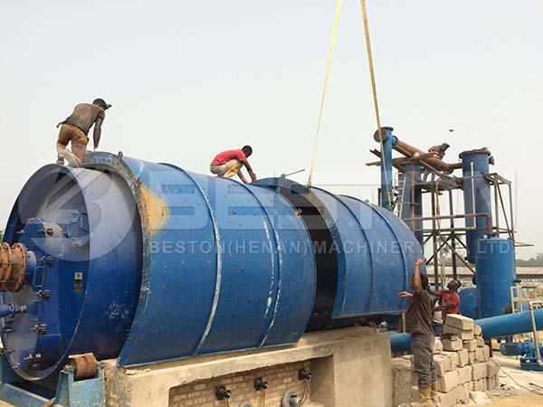 Installation Site of Oil Sludge Treatment Plant