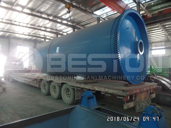 Oil Sludge Pyrolysis Machine to Nigeria in 2018